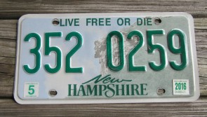 New Hampshire Old Man Of The Mountain License Plate 2013