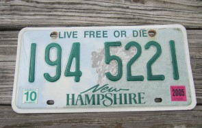 New Hampshire Old Man Of The Mountain License Plate 2005