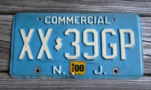 New Jersey Garden State Blue Trailer License Plate 2000