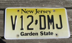 New Jersey Garden State License Plate Yellow Fade C48 AVG