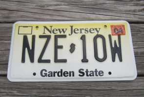 New Jersey Garden State License Plate Yellow Fade 2005