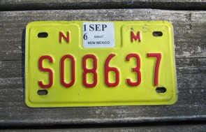 New Mexico Yellow Land Of Enchantment License Plate 2014