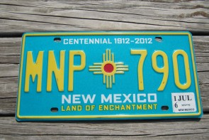 New Mexico Centennial License Plate 2016 Land Of Enchantment 1912 -2012