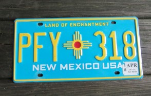 New Mexico Land Of Enchantment  License Plate 2018