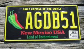 New Mexico Centennial License Plate 2017 Land Of Enchantment 1912 -2012