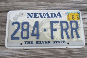 Nevada Big Horn Ram License Plate 1999 The Silver State 284 FRR