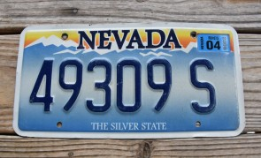 Nevada The Silver State License Plate 2006