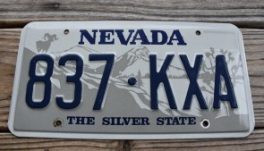 Nevada Big Horn Ram License Plate The Silver State 1990's