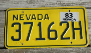 Nevada The Silver State License Plate 2016