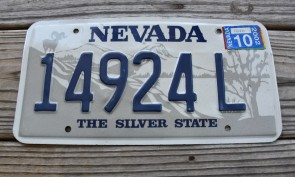 Nevada Big Horn Ram License Plate The Silver State 2002
