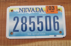 Nevada Big Horn Ram License Plate 1996 The Silver State