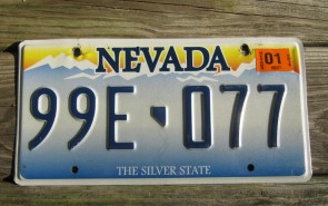 Nevada The Silver State Embossed License Plate 2018