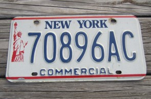New York Statue of Liberty Commercial  License Plate 1990's