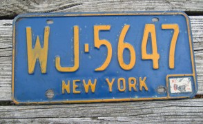 New York Blue White Commercial License Plate The Empire State 122722 KA