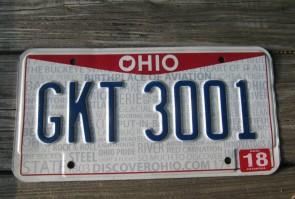 Ohio Pride License Plate Birth Place of Aviation