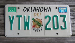 Oklahoma Arrow Shooter Native America License Plate 2014 Commercial Truck