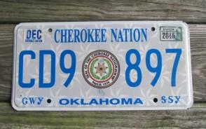 Oklahoma Cherokee Nation License Plate Indian Tribal 2015