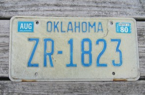 Oklahoma Arrow Shooter Native America License Plate 2015 Noble County