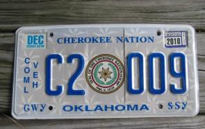 Oklahoma Is OK License Plate 1967 XD 7368