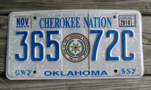 Oklahoma Arrow Shooter Native America License Plate 2013 Kay County