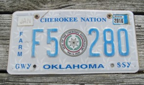 Oklahoma Arrow Shooter Native America License Plate 2014