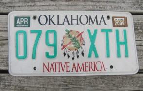 Oklahoma Arrow Shooter Native America License Plate 2015