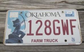 Oklahoma Arrow Shooter Farm Truck License Plate 2016