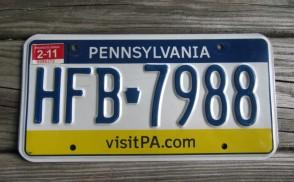 Pennsylvania Tri Color License Plate