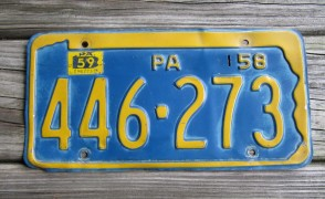 Pennsylvania Motorcycle Tri color Style License Plate 2000's