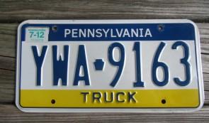 Pennsylvania Visit PA Truck License Plate 2012