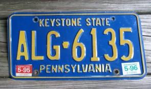 Pennsylvania Small Keystone State License Plate 1990s