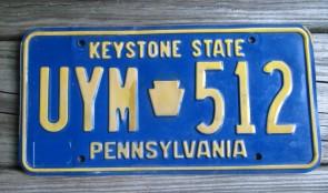Pennsylvania Large Keystone State License Plate 1990s