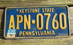 Pennsylvania Penna Keystone License Plate 1936