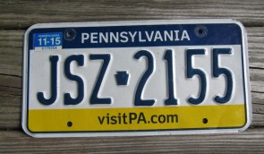Pennsylvania Visit PA License Plate 2015