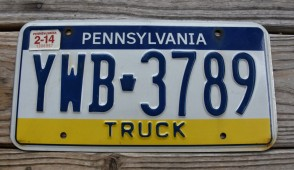 Pennsylvania Visit PA Truck License Plate 2014