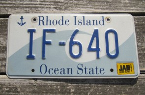 Rhode Island Wave License Plate Ocean State 2012