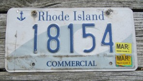 Rhode Island Wave License Plate Ocean State 2005