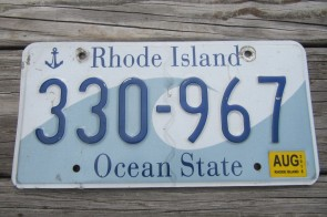 Rhode Island Wave License Plate Ocean State 2015