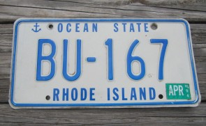 Rhode Island Ship Anchor License Plate 1994