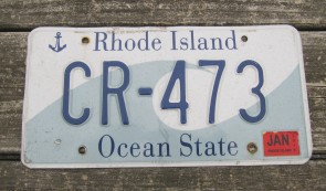 Rhode Island Wave License Plate Ocean State 1999 MI 416