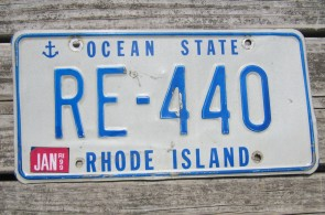 Rhode Island Ocean State License Plate