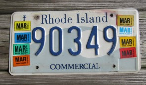 Rhode Island Wave License Plate Ocean State 2010