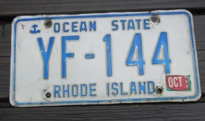 Rhode Island Wave License Plate Ocean State 2009