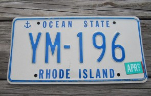 Rhode Island Ship Anchor License Plate 1998