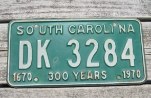 South Carolina State Outline License Plate 1983