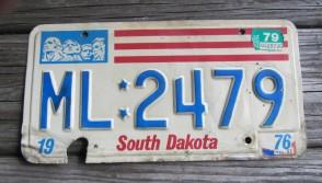 South Dakota Mount Rushmore License Plate 1979