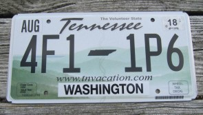 Tennessee Green Rolling Hills License Plate 2014