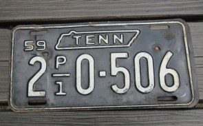 Tennessee Green Rolling Hills License Plate 2015 Carter County TN
