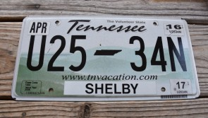 Tennessee Green Rolling Hills License Plate 2017