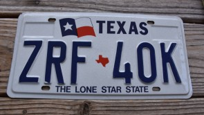 Texas Left Flag License Plate The Lone Star State
